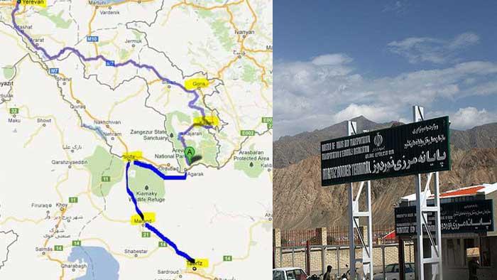 چگونگی عبور از مرز زمینی ارمنستان