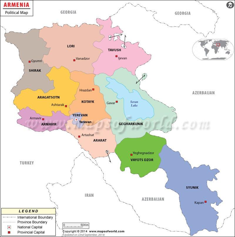 استان های ارمنستان