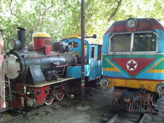 پارک راه آهن کودکان ایروان در ارمنستان