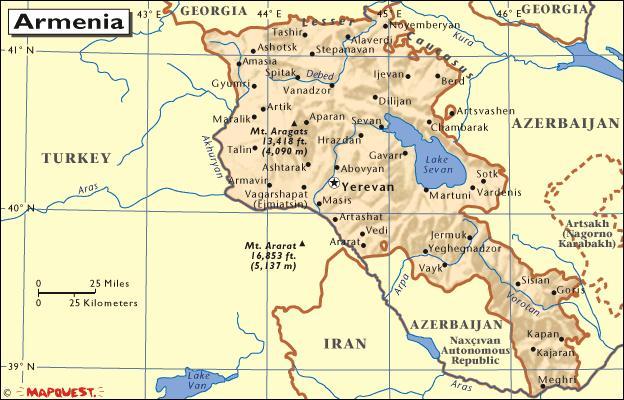 نقشه ارمنستان